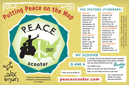 PEACE Scooter postcard, click to download PDF