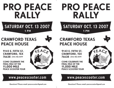 Crawford Peace Rally Flyer